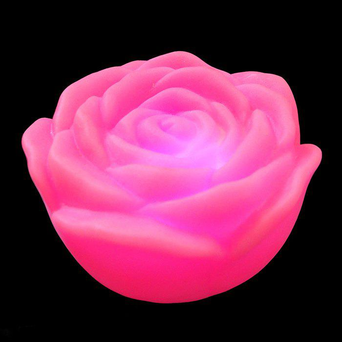 Colorful LED Rose Night Light - PINK