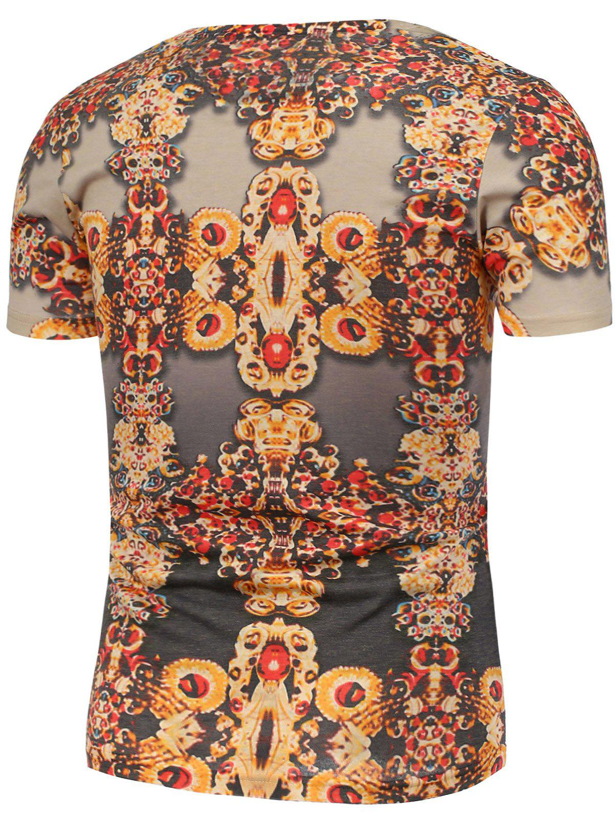 Vintage Printing Short Sleeves T-Shirt - COLORMIX L