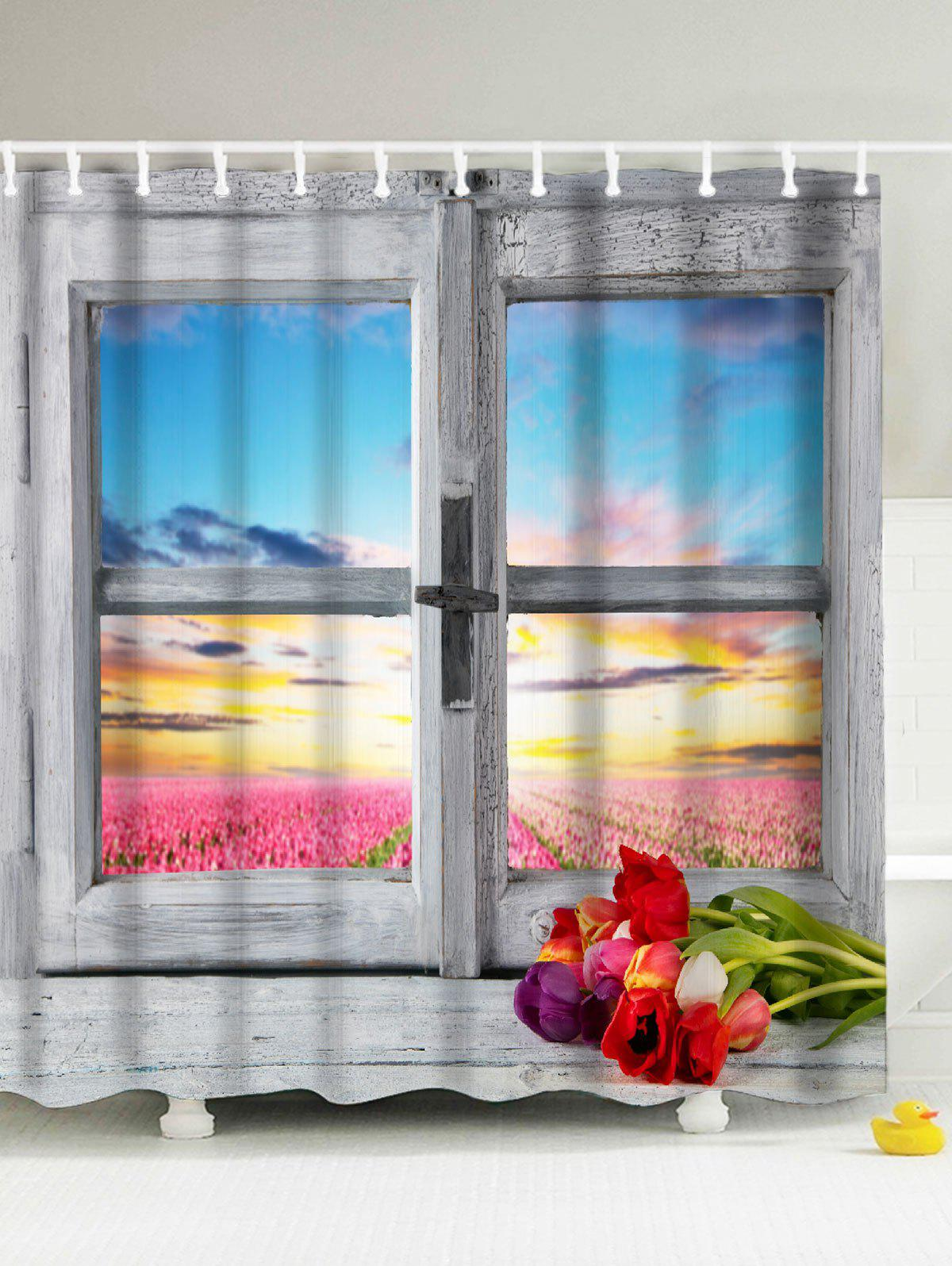Window Landscape Mildewproof Eco-Friendly Shower Curtain eco friendly convenience automatic yogurt maker machine 15w 1l