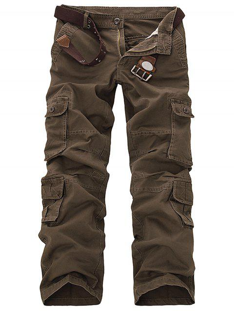 Slimming Pockets Design Cargo Pants - COFFEE 31