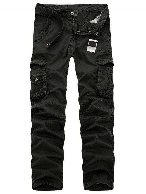Multi-poches Pantalons Zipper Fly Slimming Cargo - Noir 38