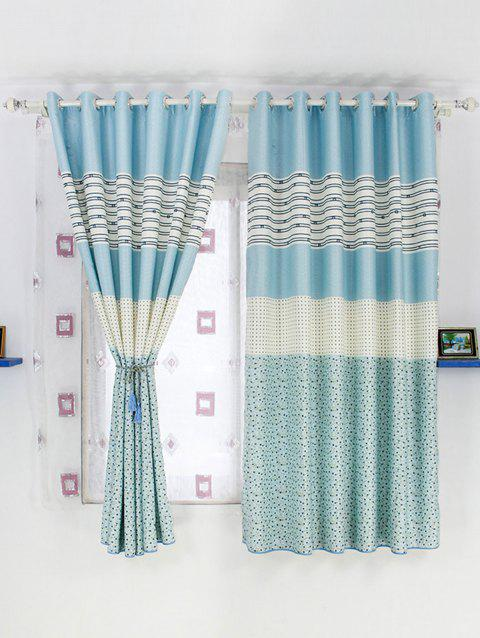 Window Screening Blackout Curtain For Living Room - BLUE 100*200CM