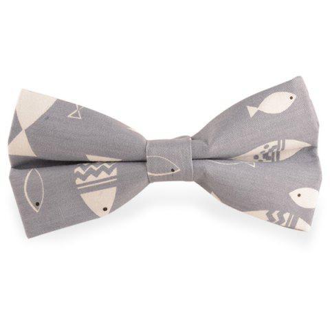 Cartoon poisson Imprimé Bow Tie - Gris