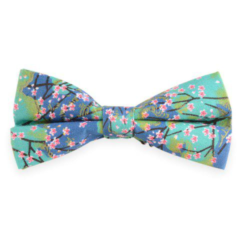 Adjustable Flowering Branches Print Bow Tie - CHARM