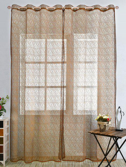 European Sheer Window Tulle Curtain Panel - LIGHT COFFEE 100*250CM