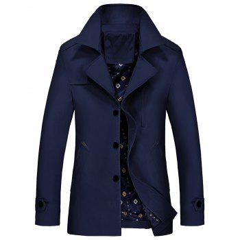 Lapel Zip Embellished Trench Coat
