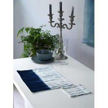 Color Block Indigo In Dyes Printed Placemat and Cup Mat