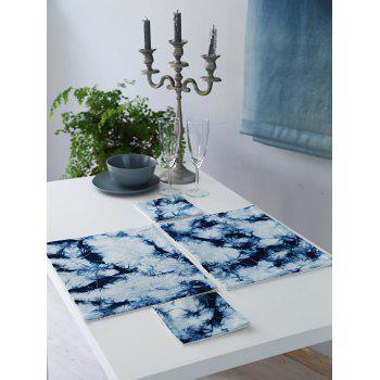 Haze Indigo In Dyes Print Placemat and Cup Mat