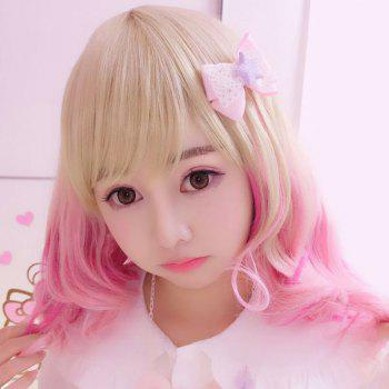 Harajuku Kawaii Medium Neat Bang Gradient Lolita Cosplay Wig