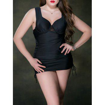 Padded Low Cut Plus Size Bathing One Piece Swimwear