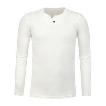 Notch Neck Long Sleeve Tee