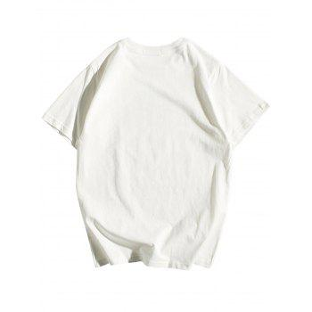 Hand Painted Short Sleeve T-Shirt - WHITE L