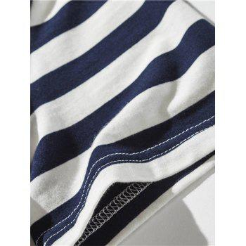 Striped Polo Shirt - BLUE BLUE
