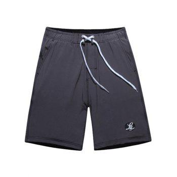 Graphic Print Tie Front Board Shorts