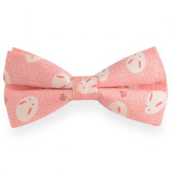 Little Rabbit Print Cotton Blend Bow Tie