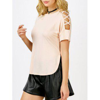 Cut Out Short Sleeve Tee