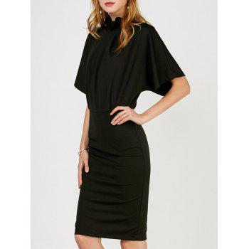 Ruched Blouson Dress