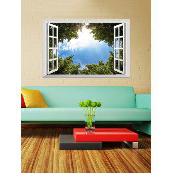 3D Tree Blue Sky Window Wall Sticker