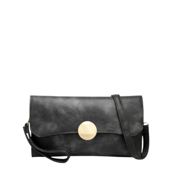 Envelope Shaped Faux Leather Clutch Bag