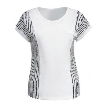 Striped Insert Dolman Sleeve Tee