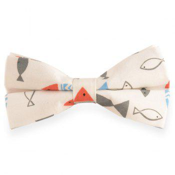 Cartoon Fish Printed Bow Tie