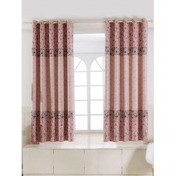 Floral Embroidery Blackout Curtain For Living Room - PINK 100*200CM