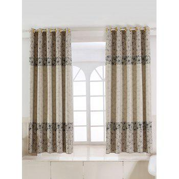 Floral Embroidery Blackout Curtain For Living Room