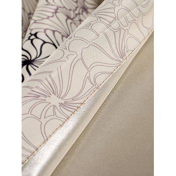 Floral Embroidery Blackout Curtain For Living Room - CANDY BEIGE 100*200CM