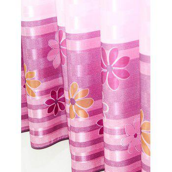 Floral Print Shading Blackout Curtain For Bedroom - 100*200CM 100*200CM