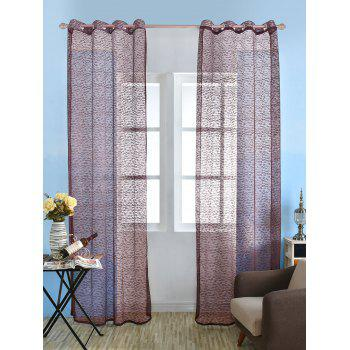 European Sheer Window Tulle Curtain Panel - RED BROWN 100*250CM