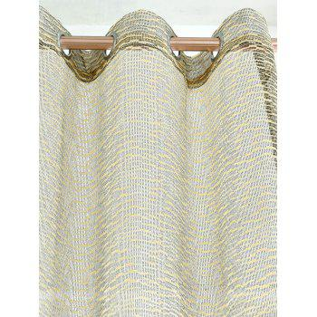 European Sheer Window Tulle Curtain Panel - PALOMINO 100*250CM