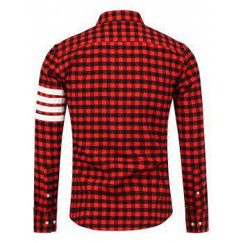 Button Down Stripe c - RED RED