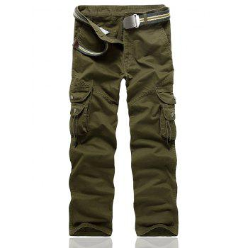 Multi Pocket String Embellished Cargo Pants