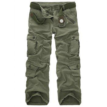 Cotton Blends Pockets Design Cargo Pants