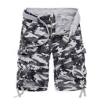 Camouflage Stud embellies Cargo Shorts
