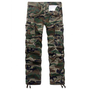 Multi Pockets Camouflage Drawstring Cargo Pants