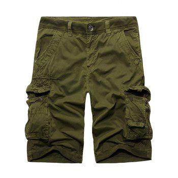 Shorts Stud Agrémentée Rib Panel Zipper Fly Cargo