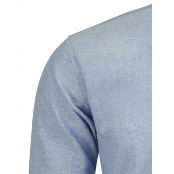 Long Sleeve Pocket Striped Shirt - CLOUDY CLOUDY