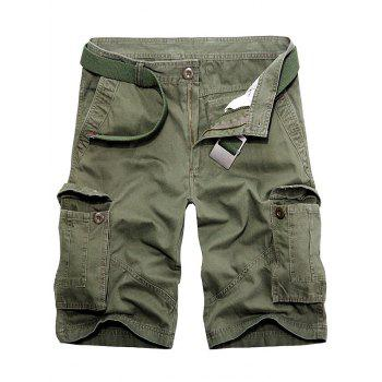 Zipper Fly Multi Pockets Cargo Shorts