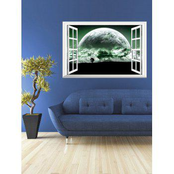 3D The Planet Fake Window Wall Sticker