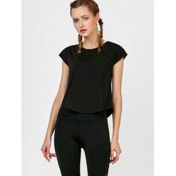 Self Tie active Surplice Top - Noir L