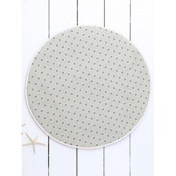 Round Star Night Print Skidproof Caroset Rug -  COLORMIX