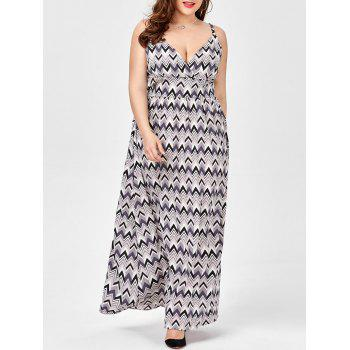 Zig Zag Plus Size Slip Empire Waist Dress