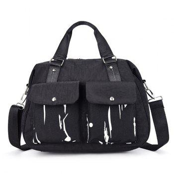 Ink Splashed Paint Nylon Handbag