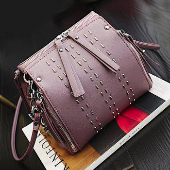 Rivet Multi Zips Cross Body Bag