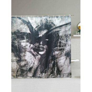 Beauty Abstract Painting Waterproof Polyester Shower Curtain