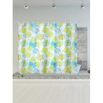 Plant Printed Polyester Waterproof Shower Curtain