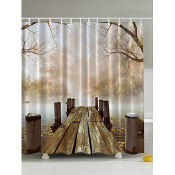 Nature Scenery Waterproof Polyester Shower Curtain