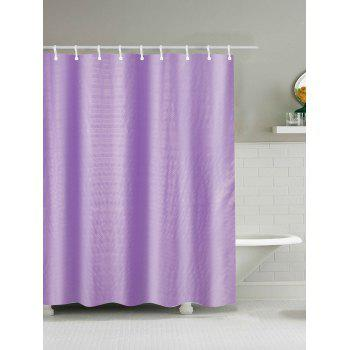 Cross Striation Polyester Waterproof Shower Curtain