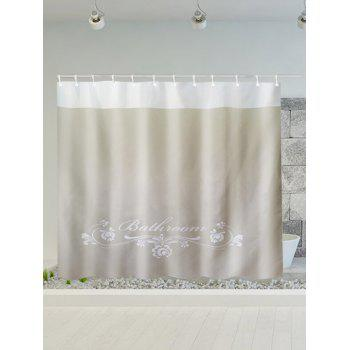 Floral Print Polyester Water Resistance Shower Curtain